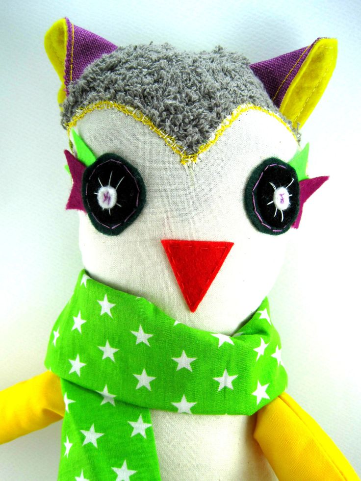 Afro the Owl!! Stuffed animal toy!! by JazzyRaccoon on Etsy