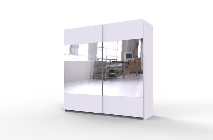 STORE 215 biała szafa ubraniowa z drzwiami przesuwnymi i lustrami - do salonu pokoju młodzieżowego czy sypialni - sprawdź okazje jedyne 1139 zł