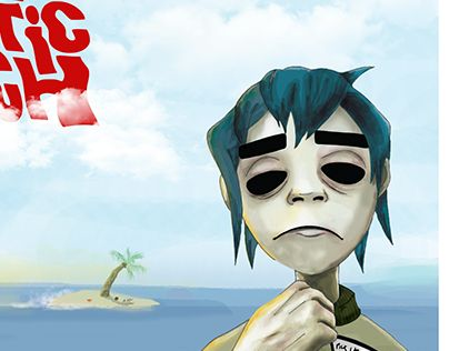 """Check out new work on my @Behance portfolio: """"Gorillaz LP cover"""" http://on.be.net/1j3k4PV"""