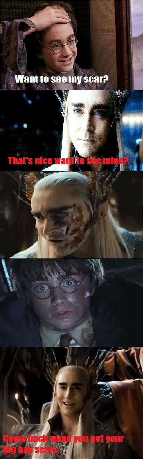 LAUGHED SO HARD!! THRANDUIL VERSUS HARRY POTTER, THRANDUIL WINS