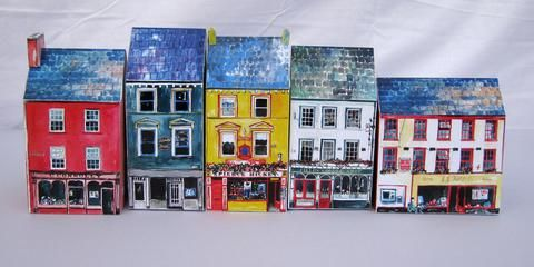Tiny Model of Skibbereen, West Cork, to be ordered and self made, more sweet little towns of West Cork available