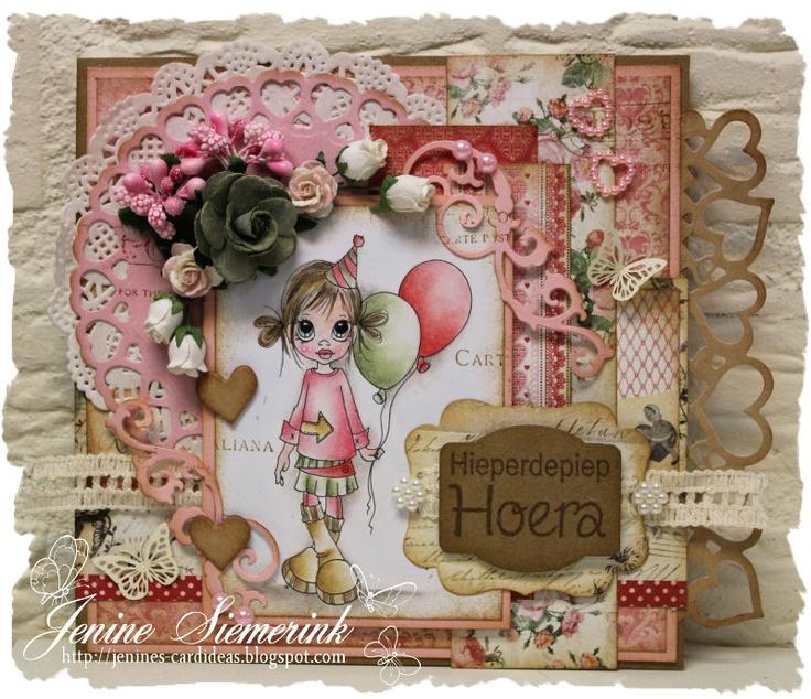 Jenine's Card Ideas: Uitdaging Februari - Ellie's Birthday