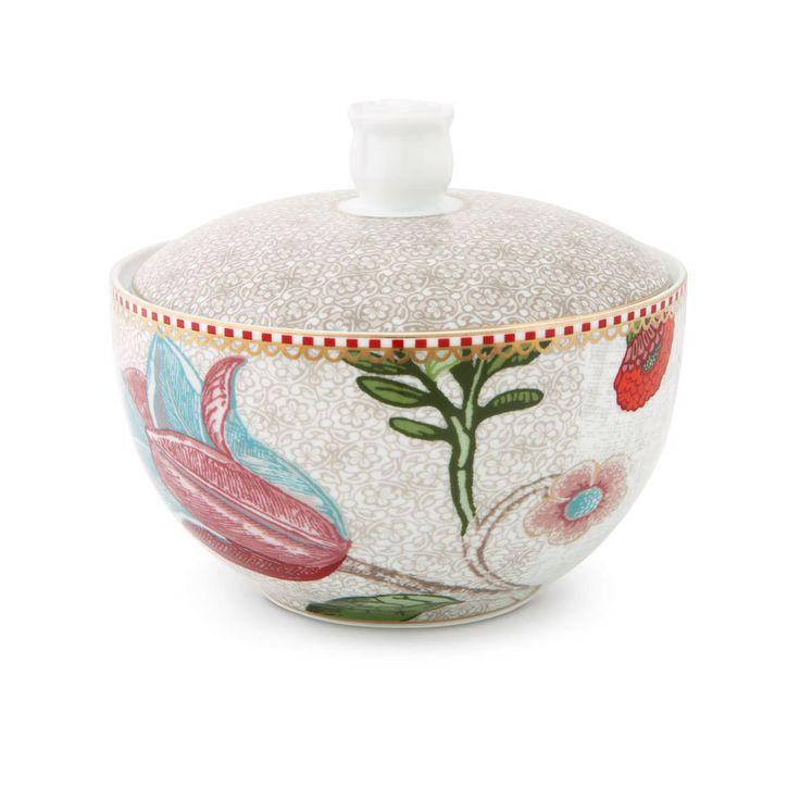 Porta cotone in fine porcellana decorata della collezione SPRING TO LIFE di Pip Studio.