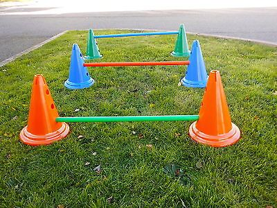 Dog Agility Jump Set Training Equipment[Blue Cones]