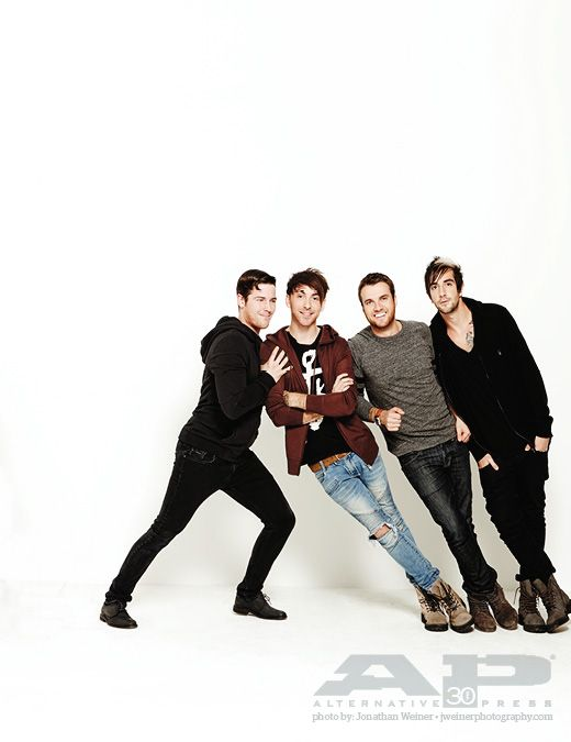 "alternativepressmag: "" Stoked to welcome All Time Low to next month's cover of AP magazine! Photo: Jonathan Weiner """