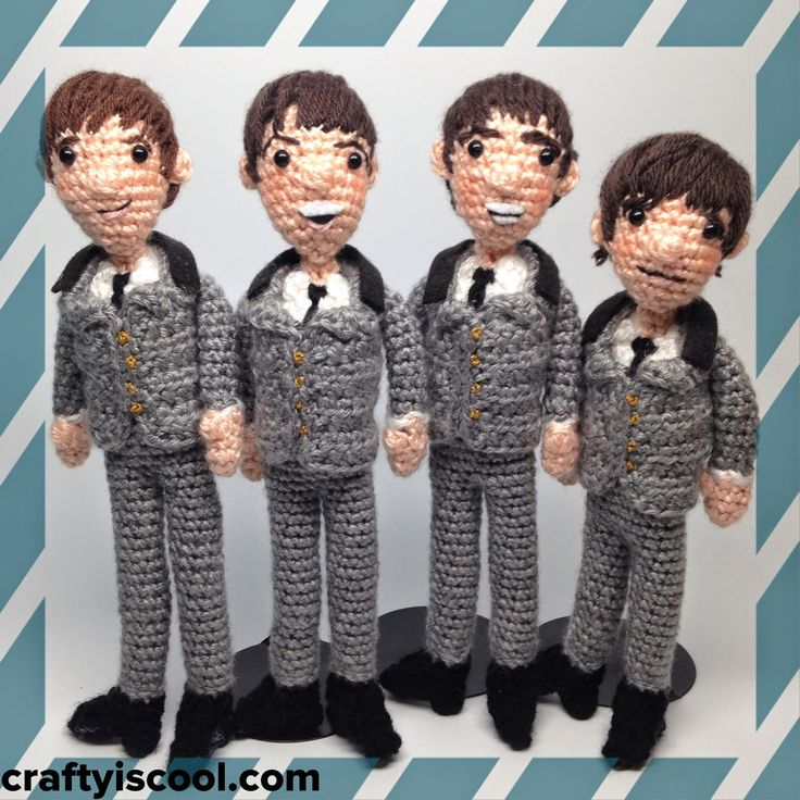 The Beatles! New Amigurumi Pattern  <3 craftyiscool.com