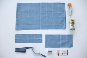 How to sew an easy arm chair remote holder with this DIY sewing tutorial. The perfect fabric remote caddy to help you never lose your remote control again!