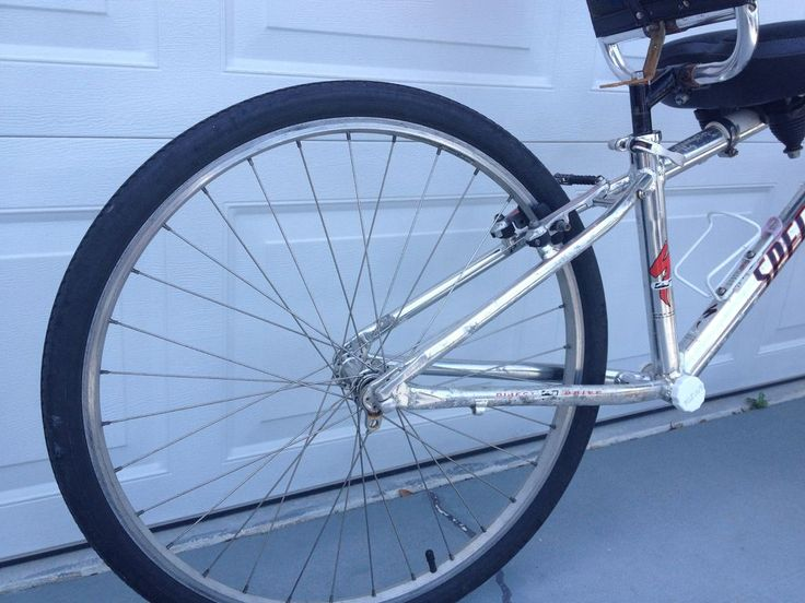 Diy recumbent bicycle made from recycled parts fahrrad
