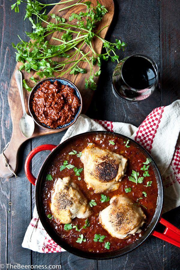 Stout Harissa Chicken Thighs -1-2