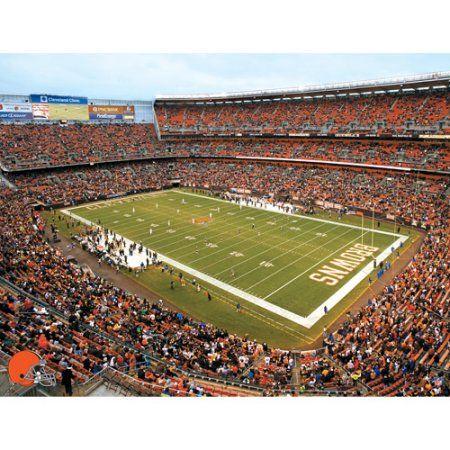Artissimo Designs NFL Browns Stadium Canvas, 22x28, Multicolor