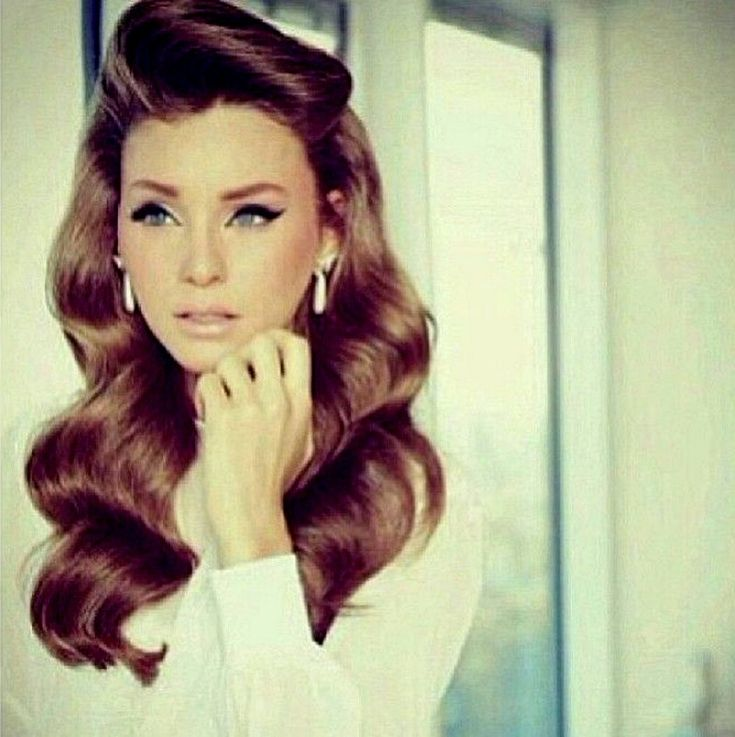 Easy Vintage Hairstyles For Curly Hair : Best images about vintage waves on