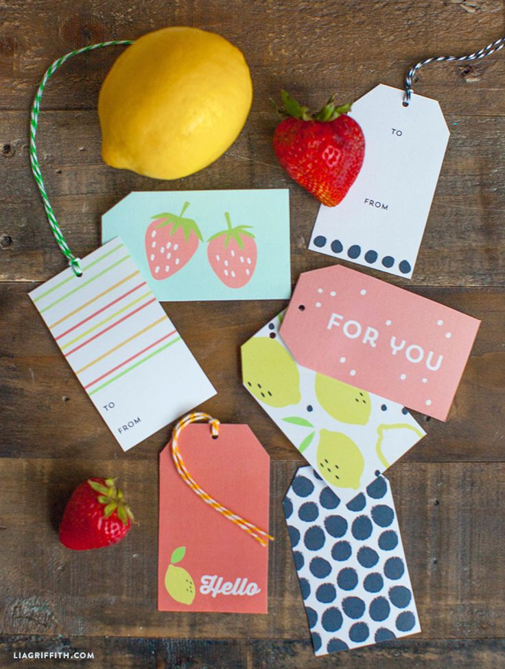 Printable Summer Fruit Gift Tags