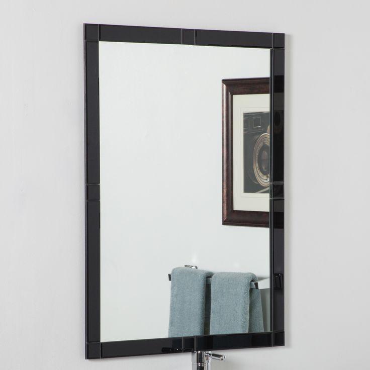 Frameless Beveled Kinana Wall Mirror