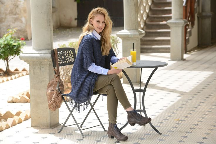 NAOT - AVILA Mine Brown (Lifestyle Image) #NAOT #footwear #shoes #laceup #boots #orthoticfriendly #removableinnersole #fashion #comfort #bestseller #israel #supermodel #lunch