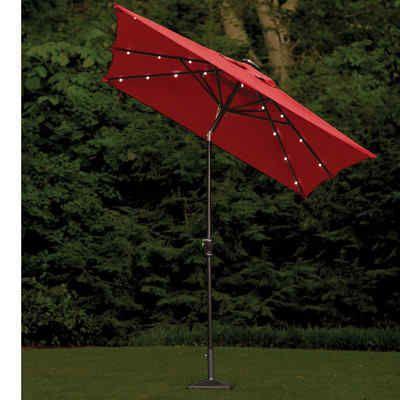 Attractive 10 Beautiful Rectangular Patio Umbrella With Solar Lights