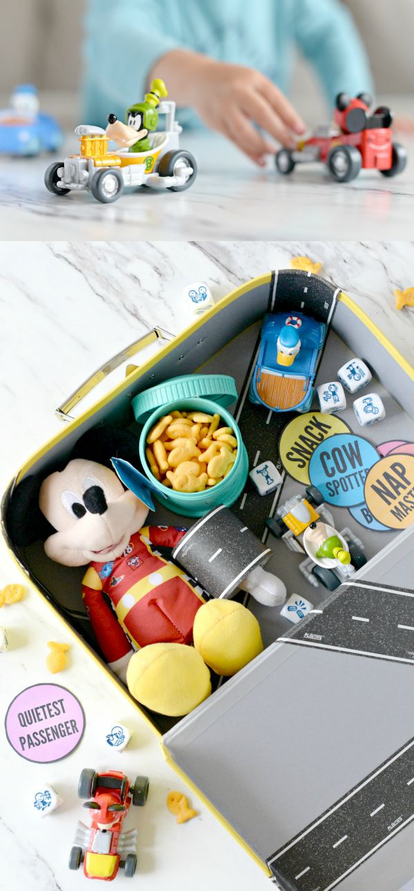 Mickey and the Roadster Racers Road Trip Activity Kit -Mickey and the Roadster Racers - Mickey Roadster Racers Gift - road trip activity box - Mickey Mouse Road Trip Box - #DisneyJuniorFriYay