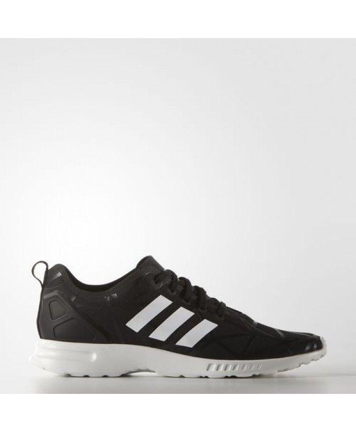sports shoes 68417 2b3be Adidas Femme Originals ZX Flux ADV SMOOTH Noir Blanche S79501