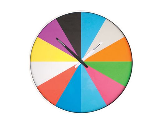 Kikkerland Design Inc » Products » Wall Clock + Ultra Flat Multi Color