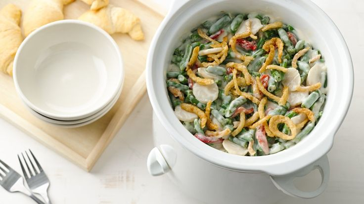 This version has the great taste you crave, but it cooks itself in your slow cooker--proving that all green bean casseroles are not created equal!
