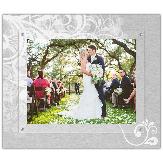 11x14 Landscape Flourish Wedding Picture Frame Modern Floating Gallery Wall Frame Acrylic Wedding Picture Frames Photo Frame Gallery Acrylic Picture Frames