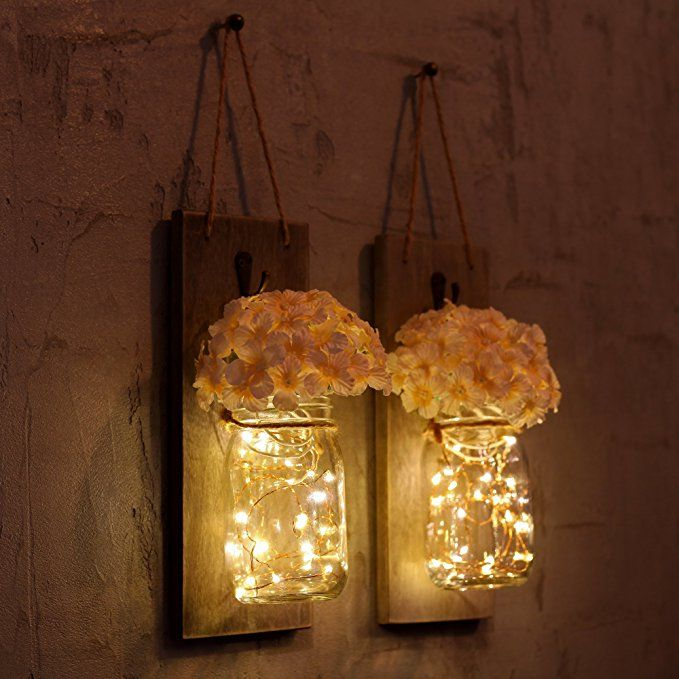 Vintage Mason Jar Wall Sconces Can Make Your Home And Garden Feel Beautiful You Will Love Hanging Th Mason Jar Sconce Mason Jar Lighting Rustic Wall Sconces