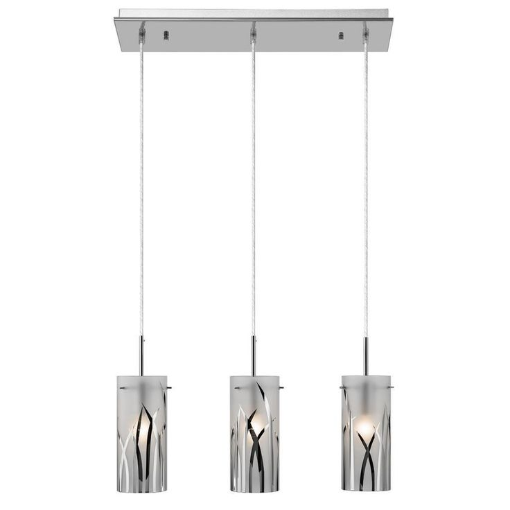 This contemporary 3-light cluster pendant features a chrome finish that will compliment many contemporary and modern decors. The combination clear and opal glass will surely make this beautiful piece stand out.