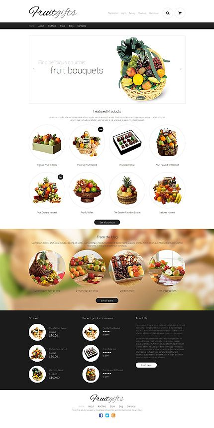 Template 49377 - Fruits Gift Store Responsive WooCommerce Theme