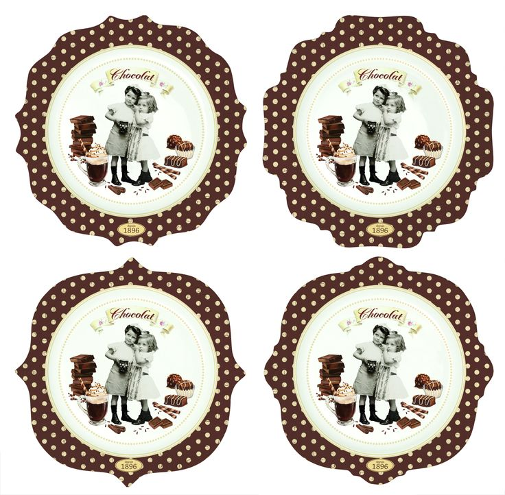 #Zestaw talerzy z porcelany || #Set of 4 #plates perfect for serving desserts. || #decosalon #kitchenaccessories #gift #giftidea