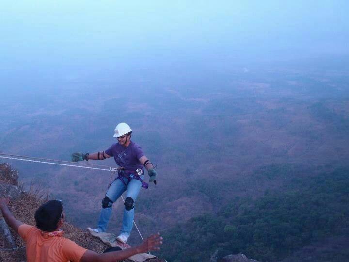 hands free.....365 feet up..