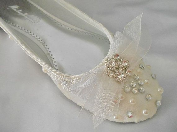Wedding Bridal Ballet Flats Shoes