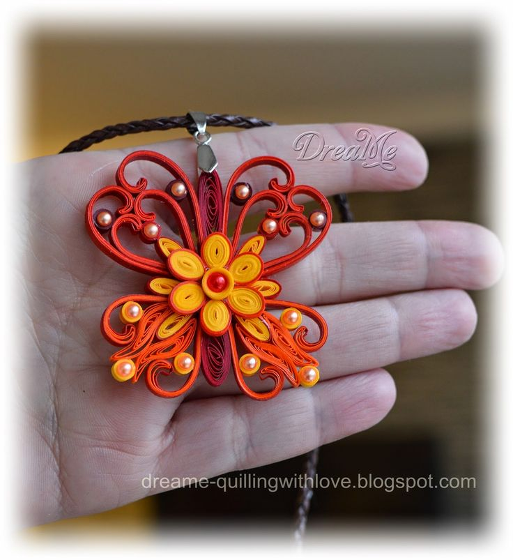 DreaMe quilled butterfly jewelry