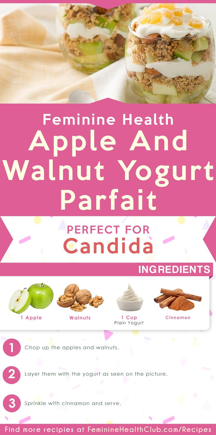 Apple And Walnut Yogurt Parfait Recipe For Candida Recipe In 2020 Candida Recipes Candida Diet Recipes Yogurt Parfait Recipe