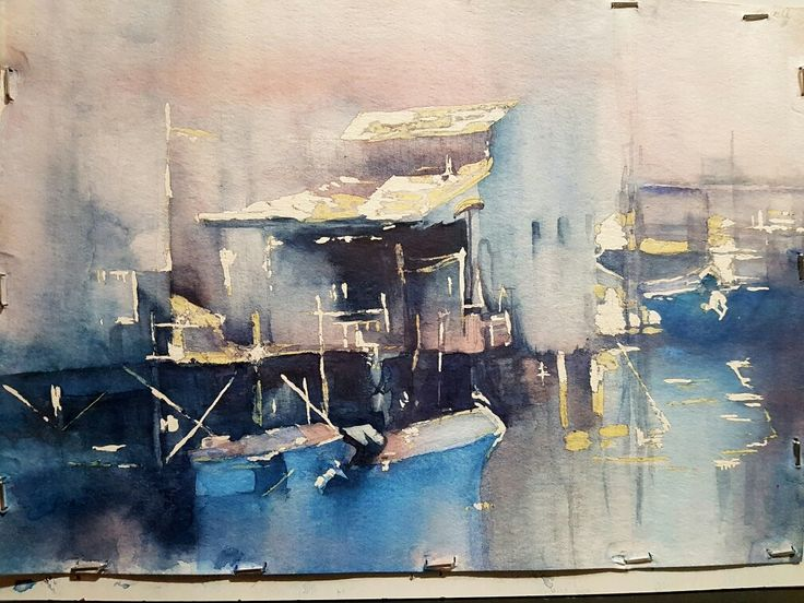 Boathouse water colour