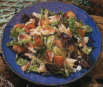 Crab Salad and Buttermilk Caesar Dressing Recipe at Epicurious.com