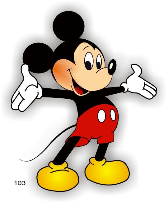 mickey mouse corel draw