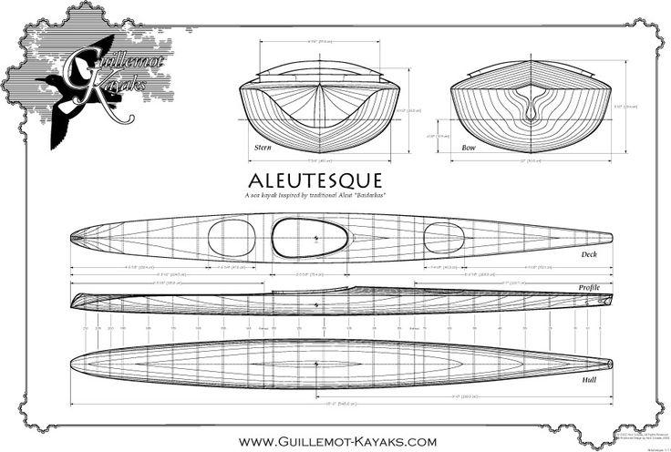 Aleutesque Планы Каяки | Байдарки Кайра - Небольшая Деревянная Лодка Конструкции