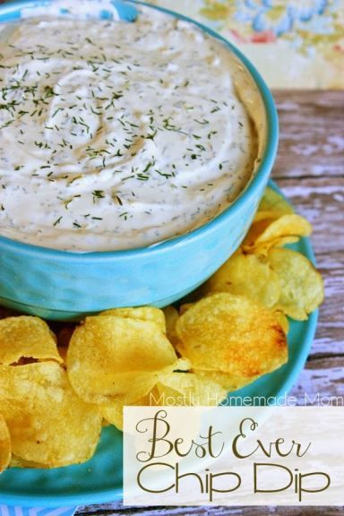 Best Ever Chip Dip - This simple chip dip takes 5 minutes to pull together, and is SO much better than those little packets - cheaper, too! Sour cream, mayo, and herbs... bring on the chips and veggies!