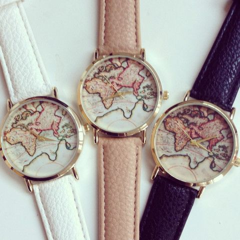 Adorable World Map Watch – shopebbo