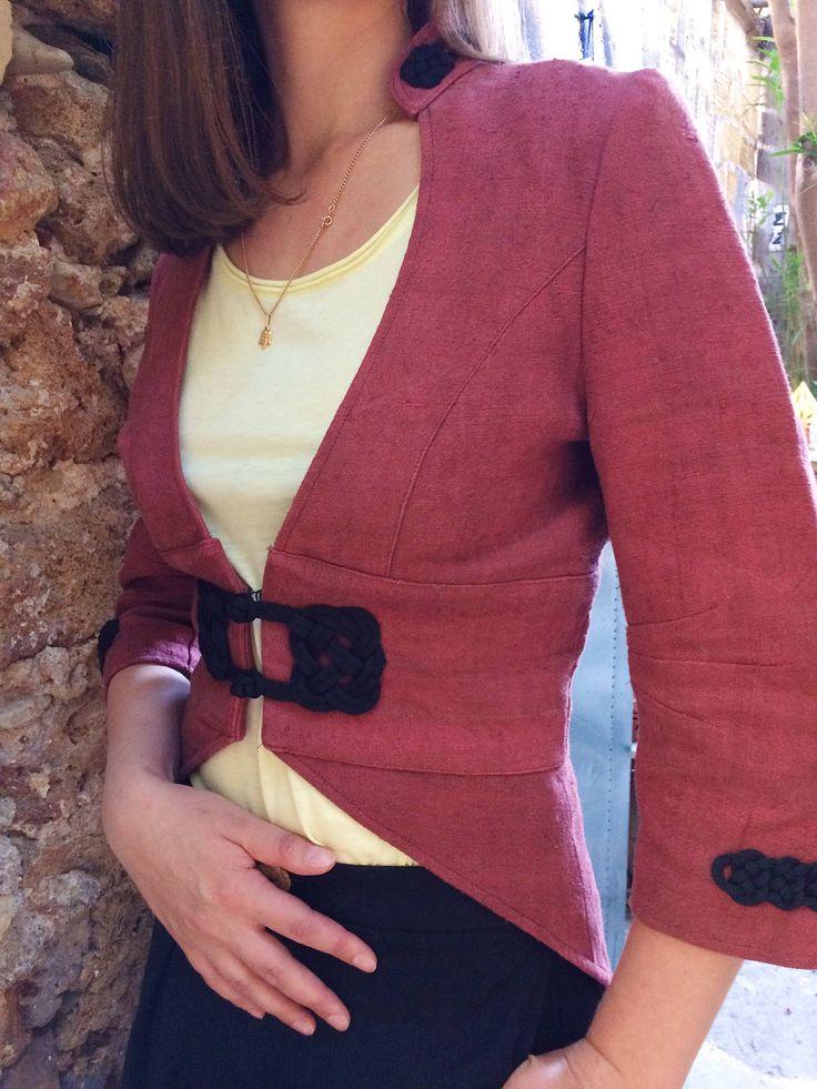 Handpainted Handwoven Hemp Jacket - Eco-Friendly Hemp Clothing - Wearable Art - Indi Clothing - Hemp Clothing - Festival Clothing for her by Snophemp on Etsy