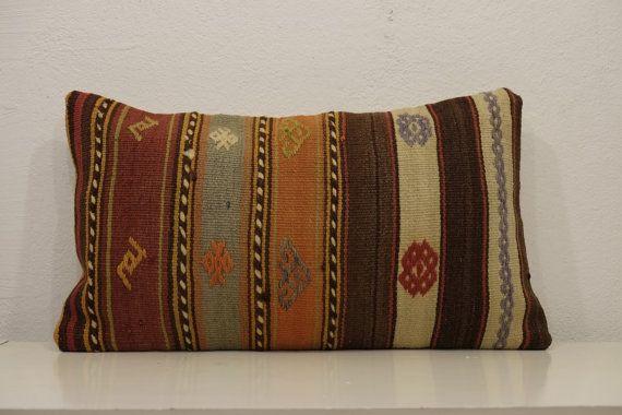 lumbar throw pillow ethnic lumbar pillow sofa by kilimci on Etsy