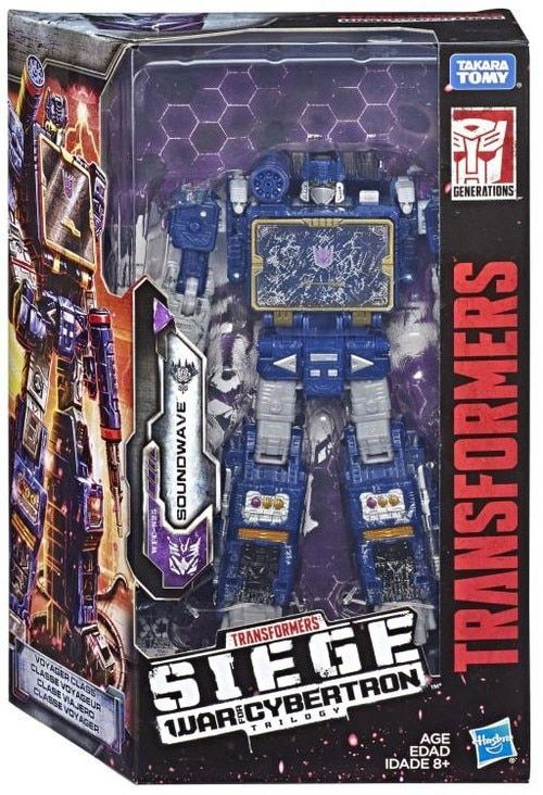 Transformers War for Cybertron: Siege Soundwave Voyager Action