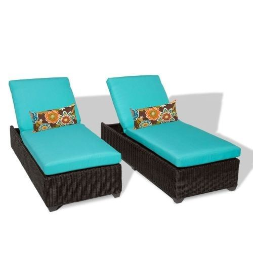 Miseno MPF-VNCE2X Mediterranean 2-Piece Aluminum Framed Outdoor Chaise Lounge Chair Set (Terracotta), Outdoor Décor (Wicker)