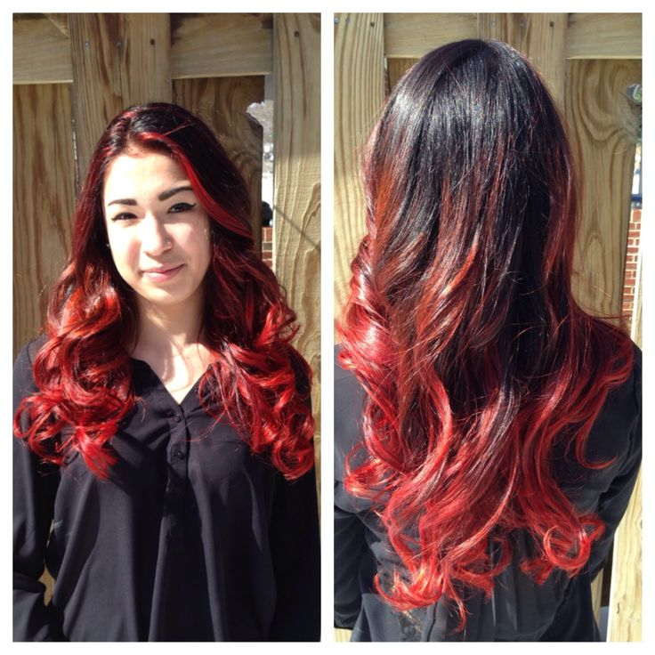 how to ombre your hair! From black to red!