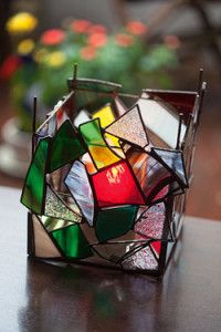 "Creative Company | Classy Glass Art: Abstract ""patch"" candleholder"