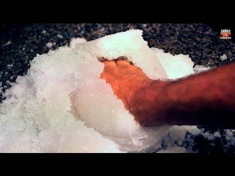 How to get Instant-Snow Powder - Science Experiments - YouTube