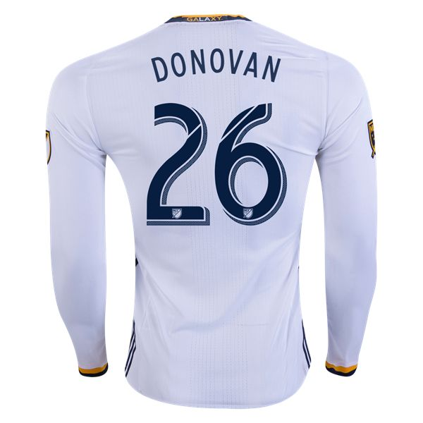 adidas Landon Donovan LA Galaxy Long Sleeve Authentic Home Jersey 2016