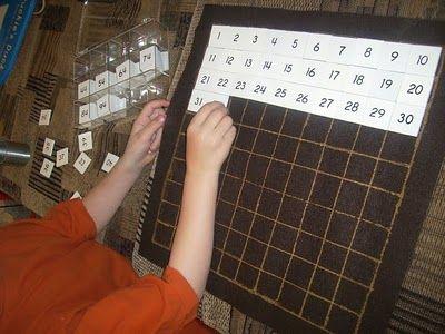 Montessori Homemade Hundreds Board.