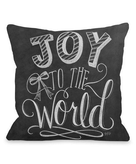 Joy to the World' Throw Pillow