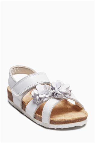 1b1cb09221b11b White Flower Corkbed Sandals (Younger)