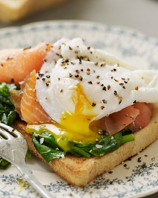 Healthier Eggs Benedict with Smoked Salmon. Try and find wild salmon as it's much leaner and tastes better.